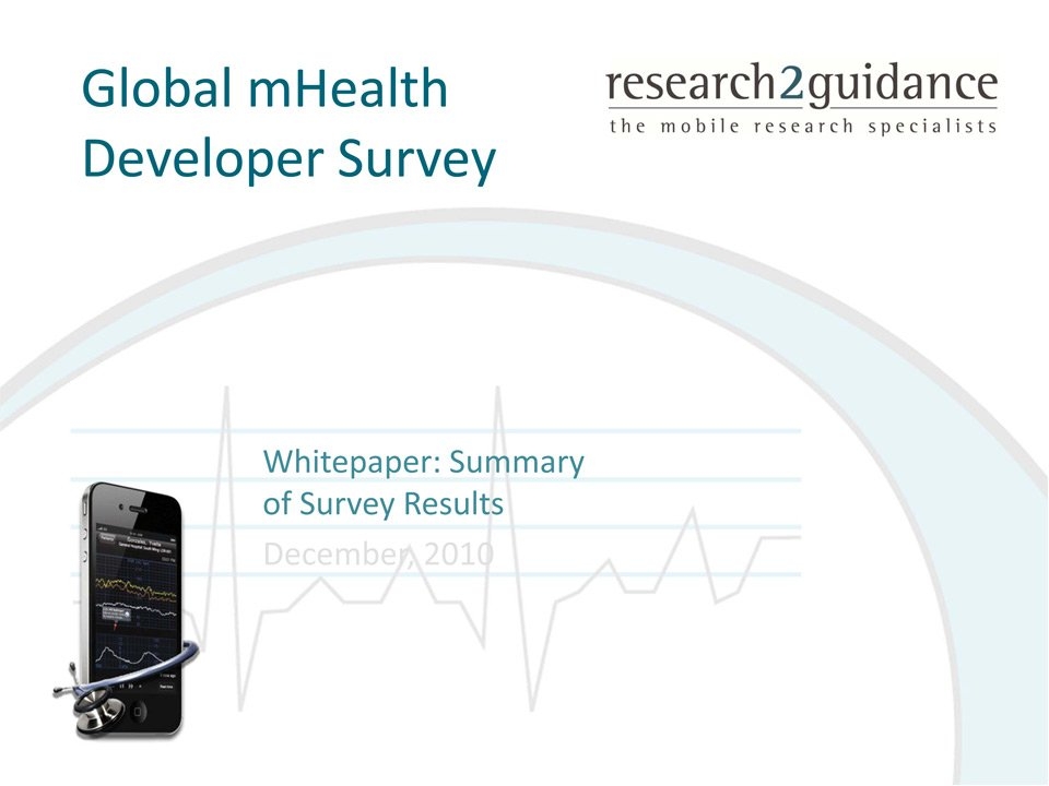 mHealth Market Will Change Within The Next 5 Years - Global mHealth Developer Survey Report - Free Whitepaper